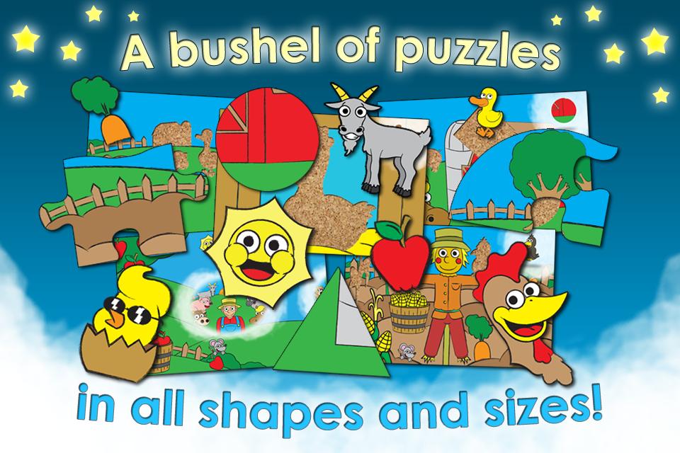 拼图农场想像冒险 - 动物活动的学前儿童和幼儿形状